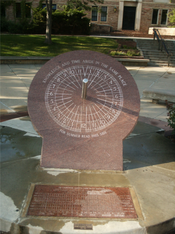 sundial on the campus of the University of Colorado at Boulder