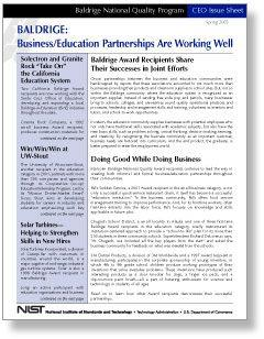 Issue Sheet Business-Education Cover Page