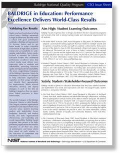 Performance Excellence Delivers World-Class Results Education
