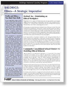 CEO Issue Sheet - Ethics