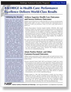 Performance Excellence Delivers World-Class Results Health Care