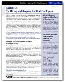 CEO Issue Sheet - Hiring and Keeping the Best Employees