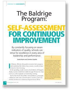 The Baldrige Program: Self-Assessment For Continuous Improvement Cover Page
