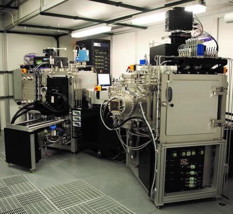 Photograph of the 4Wave IBD/BTD cluster sputtering system