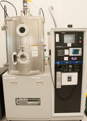 Photograph of the Denton Vacuum Infinity 22 evaporator.