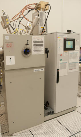 Photograph of the Denton Vacuum Discovery 550 sputtering system.