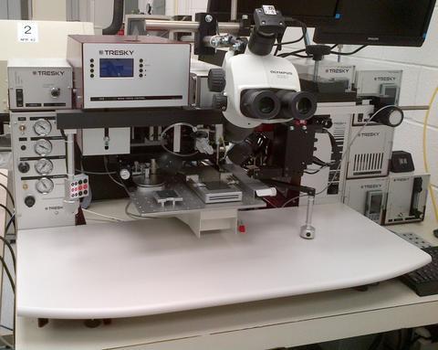Photograph of the Tresky T-3000-FC3-HF flip chip bonder.