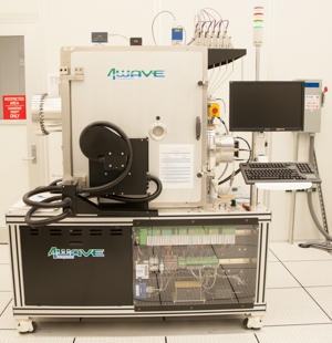 Photograph of the 4Wave IBE-20B ion milling system.