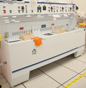 Photograph of the Reynolds Tech silicon nitride etch wet bench.
