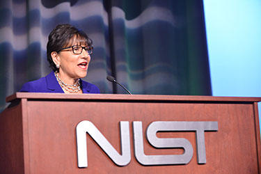 Secretary of Commerce Pritzker at the 2014 NIST awards ceremony