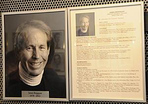 James Bergquist's portrait gallery plaque
