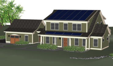 Drawing of NIST Net-Zero Energy Residential Test Facility.