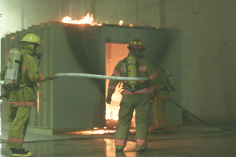 large-scale fire test