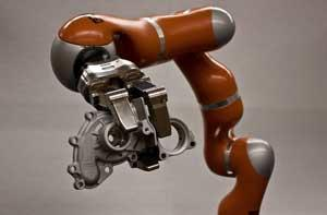 The NIST Dexterous Manipulation Testbed features a seven degree-of-freedom highly dexterous robot and a seven degree-of-freedom, three fingered robotic hand.