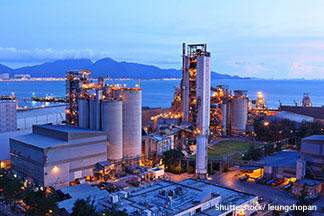 Cement factory night  Shutterstock/ leungchopan