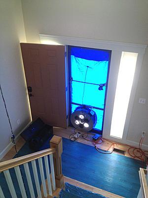 blower door set-up