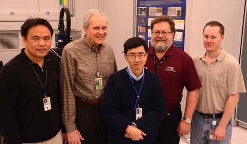 Wei Chu, Ted Vorburger, James Yen, Robert Thompson and Brian Renegar