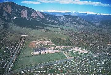 Aerial view of Boulder Colorado