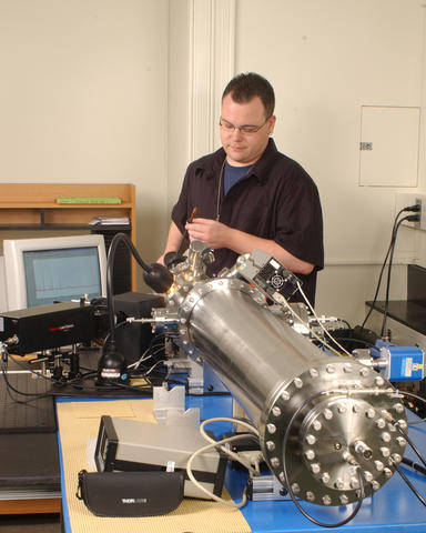 Photo of Atom Sciences heated Mass Spectrometer