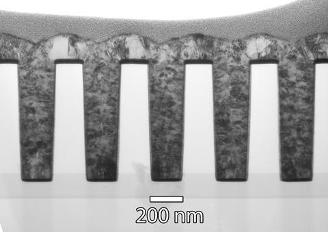 Nanostructure Fabrication TEM image