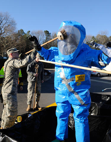 Air Force biodecon test