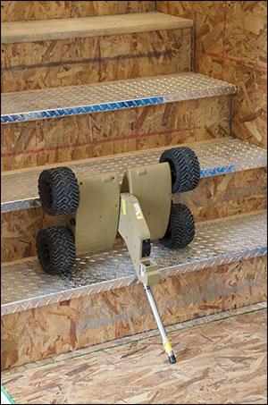 Robot climbing stair challenge