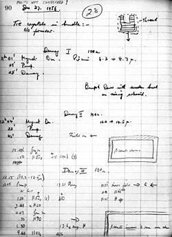 Ernest Ambler's notebook