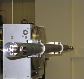 A 3 meter optical length standard under calibration.