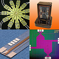 Collage of images from NIST museum of voltage standards.