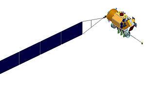 illustration of CLARREO satellite