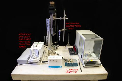 photo of calibration test setup