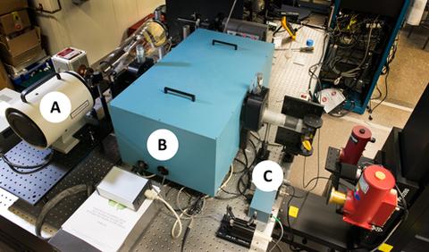photo of calibration setup