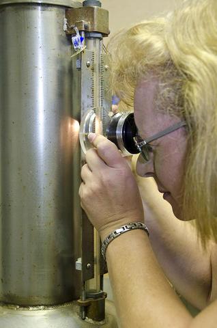PML technician Sherry Sheckels