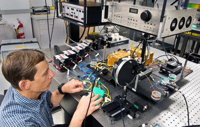 Igor Vayshenker at the calibration bench