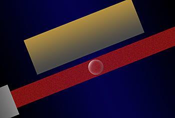 Laser light illustration