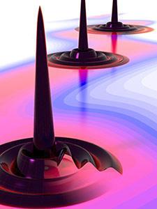 quantum droplet illustration