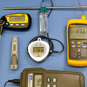 A selection of digital thermometers