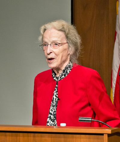 Katharine Gebbie giving a speech