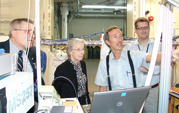 Katharine Gebbie visits radiation laboratory