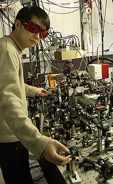 NIST postdoctoral researcher James Chin-wen Chou