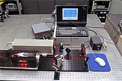 Iodine stablized helium neon laser