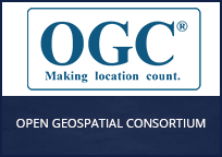 This is the logo for the Open Geospatial Consortium (OGC). Click to learn more about their project with PSCR.