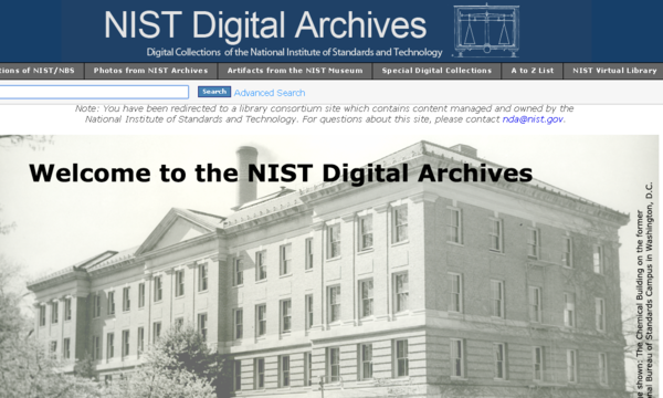 NIST Digital Archives