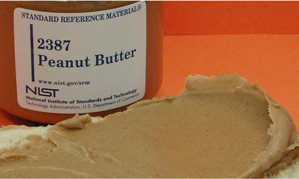 Peanut butter standard reference material.