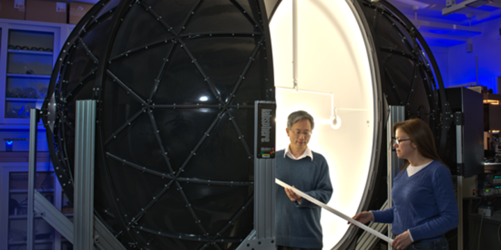 integrating sphere for light measurements
