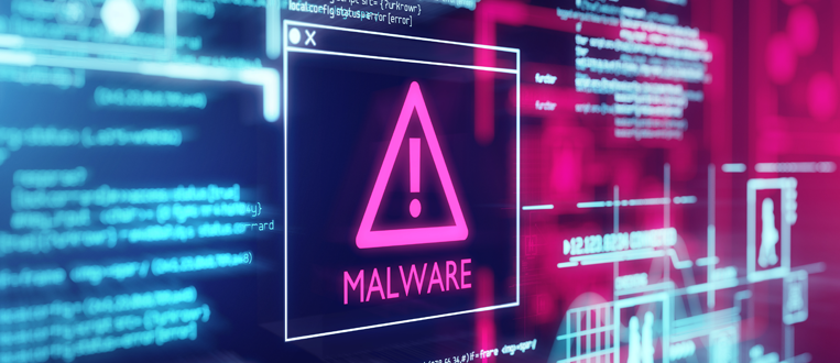 malware message showing a cyber attack