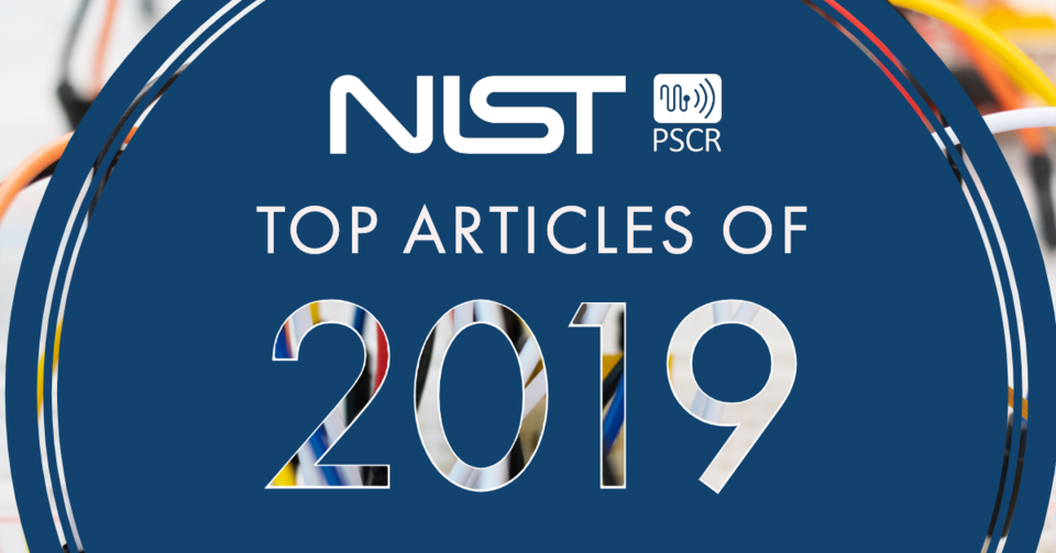 "This image displays text over an image of wires that states ""NIST PSCR Top Articles of 2019"""