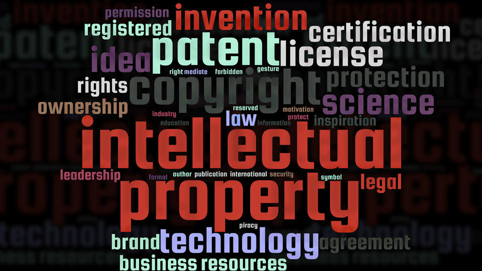Image of an Intellectual Property word cloud