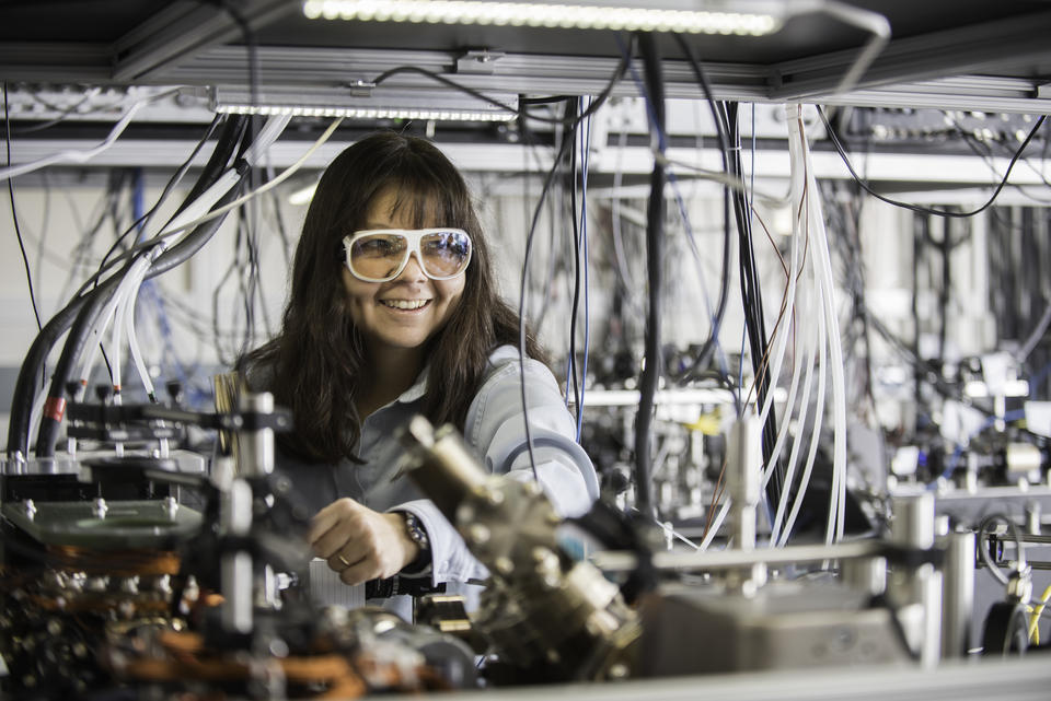 Debbie Jin in her Lab