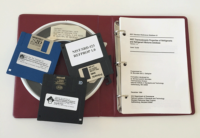 Photo of the Original Refprop Distribution, Version 1.0